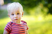 Outdoor portrait of toddler boy