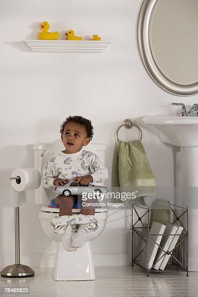 Toddler boy potty-training