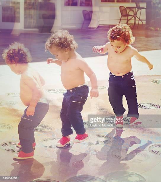 Toddler Boy Water Dance
