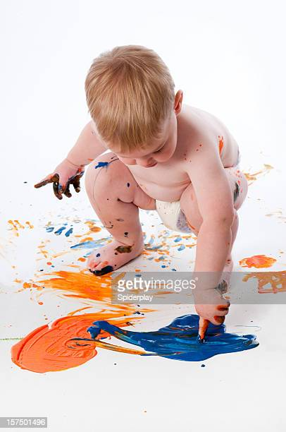 Toddler Fingerpainting
