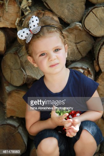 Toddler girl portrait : Stock Photo