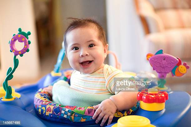 Toddler in Exersaucer