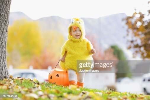 Toddler in Halloween costume : Stock Photo