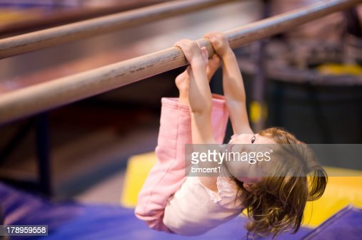 Toddler on Parallel Bars : Stock Photo