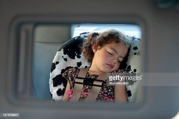 Toddler Taking a Car Nap