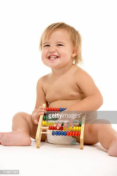 Toddler With Abacus