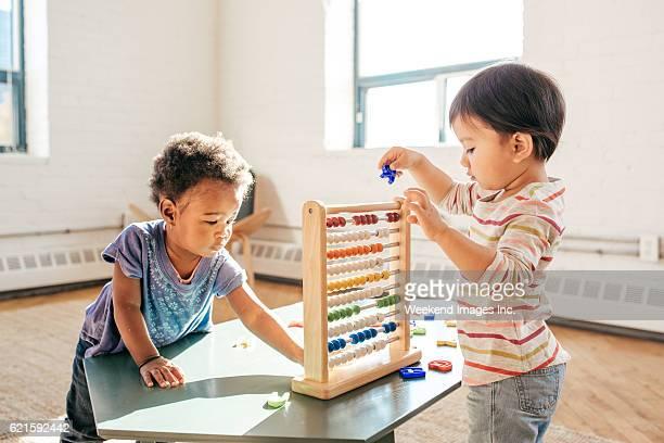 Toddlers in kindergarten