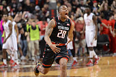 Toddrick Gotcher of the Texas Tech Red Raiders reacts after the game against the Oklahoma Sooners on February 17 2016 at United Supermarkets Arena in...