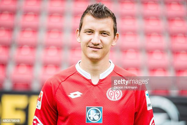 Todor Nedelev poses during the 1 FSV Mainz 05 Team Presentation at Coface Arena on July 12 2015 in Mainz Germany