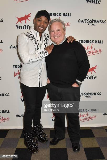 Todrick Hall and Jim Stephens attend the 'Behind The Curtain Todrick Hall' screening at IFC Center on December 6 2017 in New York City