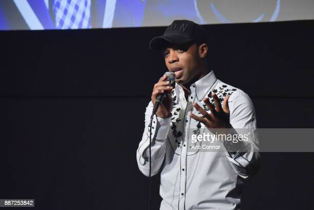 Todrick Hall speaks during the 'Behind The Curtain Todrick Hall' screening at IFC Center on December 6 2017 in New York City