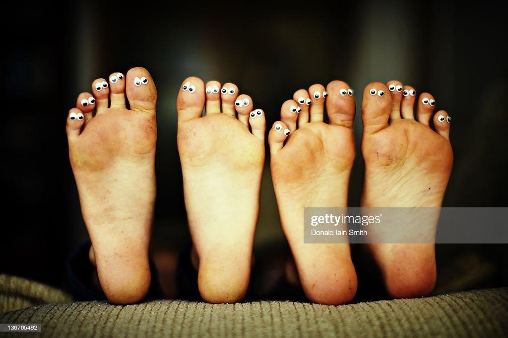 Toe faces : Stock Photo
