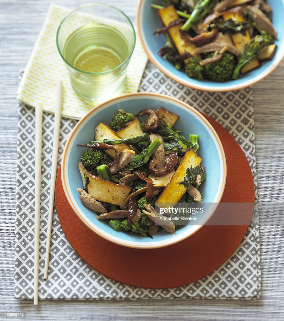 Tofu and Duck Stir Fry : Stock Photo