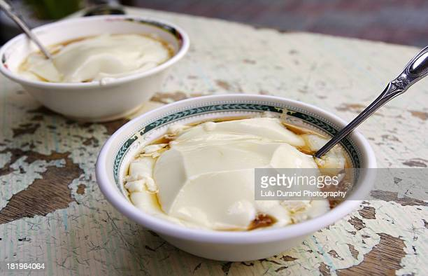 tofu pudding in syrup
