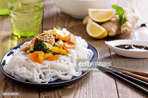 Tofu stir fry with vegetables : Stock Photo