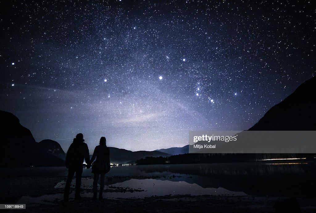 Together among stars : Stock Photo