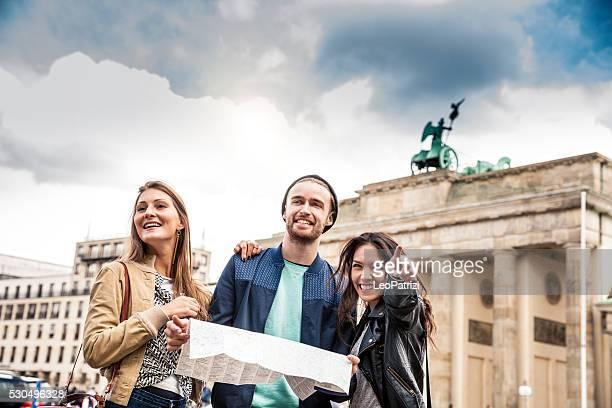 Together on travel in Berlin - Brandenburg Gate