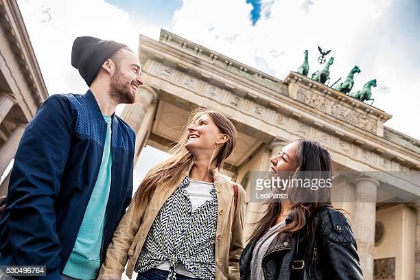 、一緒に旅行ベルリンブランデンブルクゲート