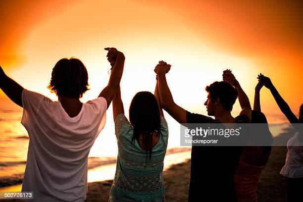 União na praia
