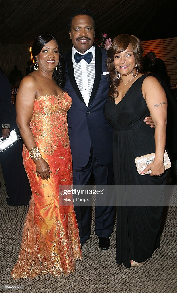 Togetta Ulmer, Bishop Kenneth C. Ulmer and Simone Smith attend the Faithful Central Bible Church Event on October 19, 2012 in Century City, California.