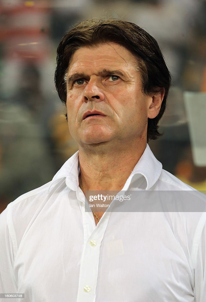 Togo manager Didier Six looks on during the 2013 Africa Cup of Nations Quarter-Final match between Burkina Faso and Togo at the Mbombela Stadium on February 3, 2013 in Nelspruit, South Africa.