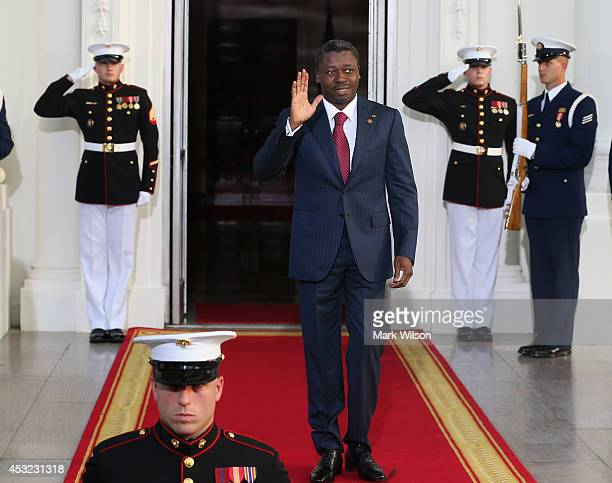Togo President Faure Essozimna Gnassingbé arrives at the North Portico of the White House for a State Dinner on the occasion of the US Africa Leaders...