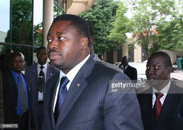 Togo President Faure Gnassingbe arrives at a summit organised by the African Union and west African economic group ECOWAS to help Togo resolve a...