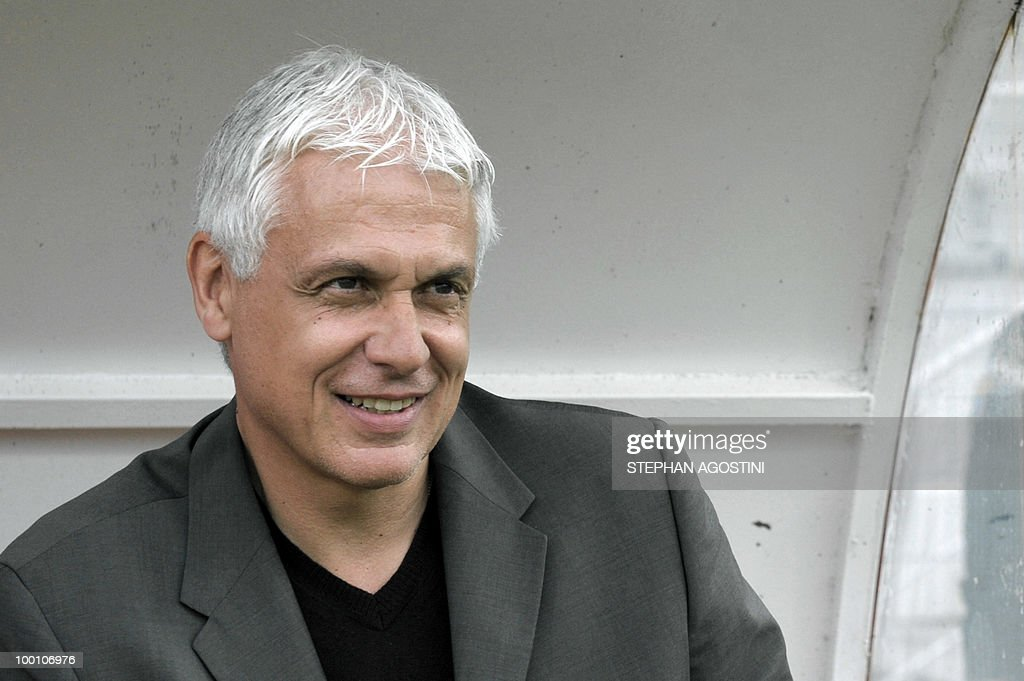 PERAUT - Togolese football national team coach Hubert Velud is pictured prior to a friendly match against Gabon as part of the 'Corsica football Cup' on May 19, 2010 at the François Coty Stadium in Ajaccio.