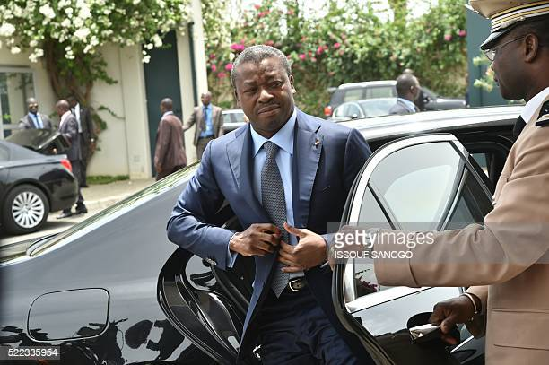 Togolese President Faure Gnassigbe arrives for a meeting at the presidential residence in Abidjan on April 18 2016 / AFP / ISSOUF SANOGO