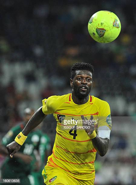 Togo's forward Emmanuel Adebayor runs after the ball during the African Cup of Nation 2013 quarter final football match Burkina Faso vsTogo on...