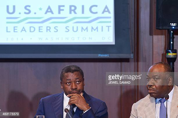 Togo's President Faure Essozimna Gnassingbe and Gabon's President Ali Bongo Ondimba attend a Dialogue on Combating Wildlife Trafficking on the...