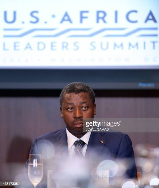 Togo's President Faure Essozimna Gnassingbe attends a Dialogue on Combating Wildlife Trafficking on the sideline of the USAfrica Leaders Summit in...