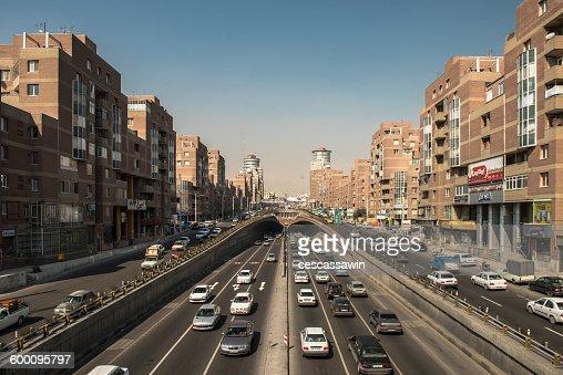 Tohid Tunnel in Tehran : Stock Photo