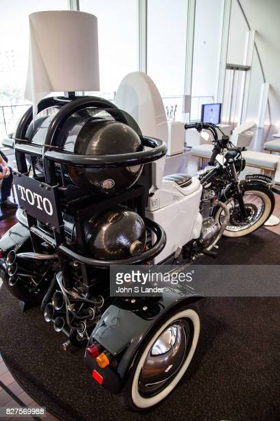 Toilet Bike Neo at Toto Toilet Museum Japan makes some of the world's fanciest toilets The Toto Museum's white shiny modern architectural design is...