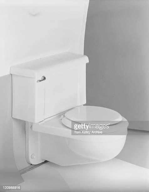Toilet bowl, close-up
