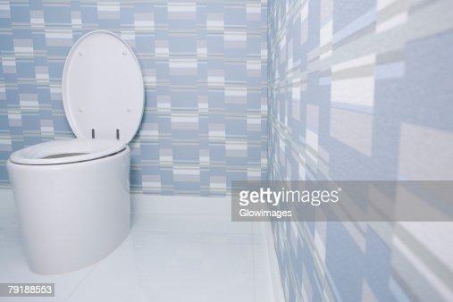 Toilet bowl in the bathroom : Stock Photo