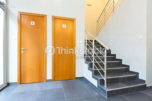 Toilet Doors In Hotel Lobby Stock Photo
