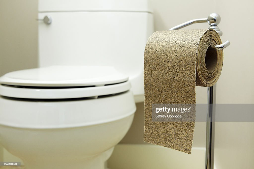 toilet paper made of sand paper