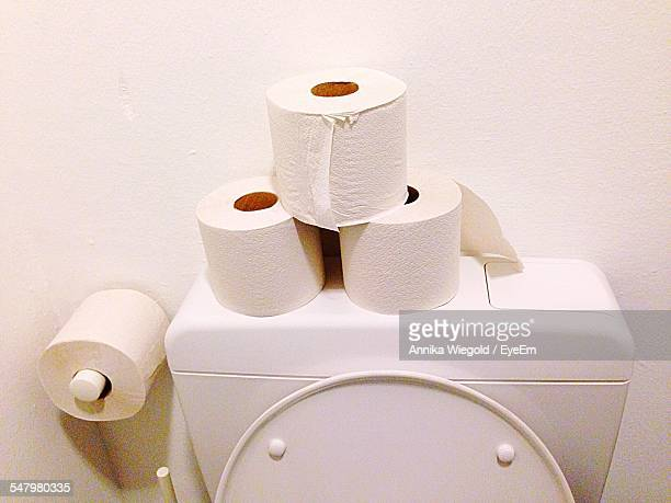 Toilet Papers On Bathroom