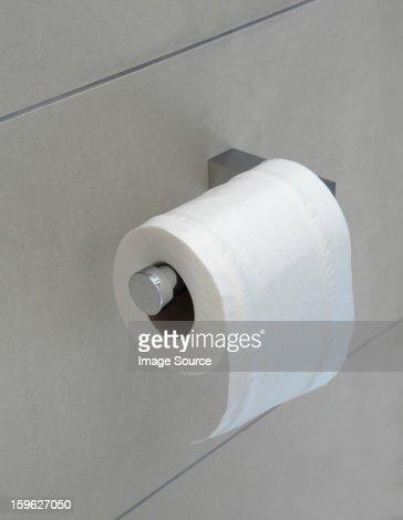 Toilet roll on holder
