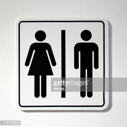 Toilet Sign Stock Photo Getty Images