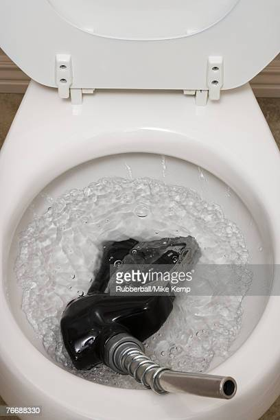 Toilet with gas pump