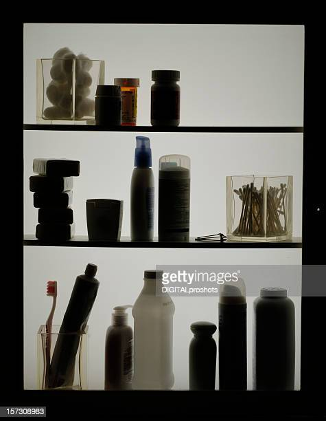 Toiletries in Silhouette