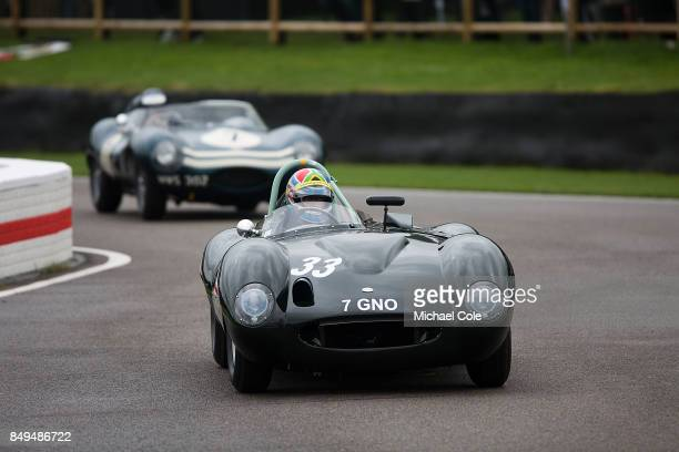 Tojeiro Jaguar during the Ecurie Ecosse Parade at Goodwood on September 8th 2017 in Chichester England