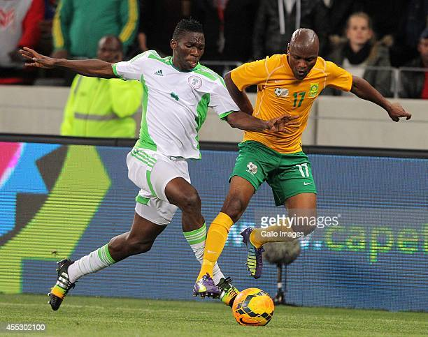 Tokelo Rantie of South Africa during the Orange AFCON Morocco 2015 Final Round Qualifier match between South Africa and Nigeria at Cape Town Stadium...
