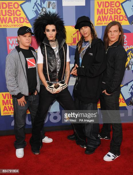 Tokio Hotel arrive for the MTV Video Music Awards 2008 at Paramount Studios Hollywood Los Angeles California