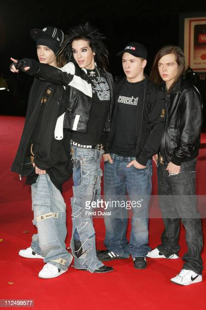 Tokio Hotel during 2006 World Music Awards Red Carpet Arrivals at Earls Court in London Great Britain
