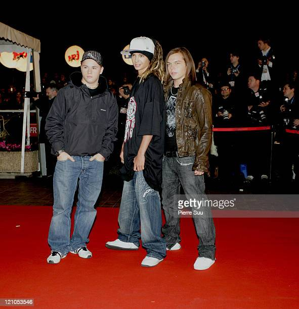 Tokio Hotel during 2007 NRJ Music Awards Red Carpet Arrivals at Midem in Cannes France