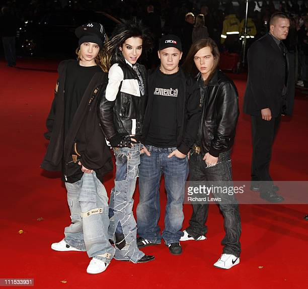 Tokio Hotel during World Music Awards 2006 Outside Arrivals at Earls Court in London Great Britain