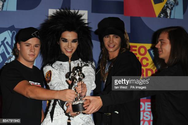 Tokio Hotel in the press room at the MTV Video Music Awards 2008 at Paramount Studios Hollywood Los Angeles California